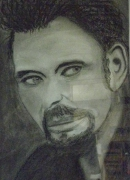 tableau personnages portrait johnny hallyday : johnny