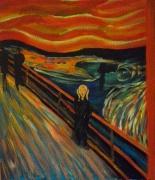 tableau abstrait munch le cri abstrait charente maritime : le cri