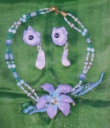 bijoux fleurs art bijoux artiste peinture : Althéa