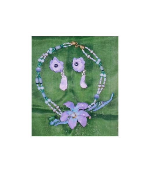BIJOUX art bijoux artiste peinture Fleurs  - Althéa