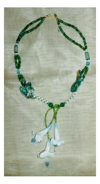 BIJOUX art bijoux artiste peinture Fleurs  - Datoura