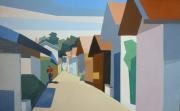 tableau paysages port du canon rue arcachon : Arcachon- rue du Canon