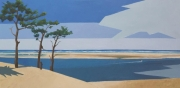 tableau marine bancs de sable marine dune du pyla arccahon : N°284 Les Bancs vue de la Dune du Pyla