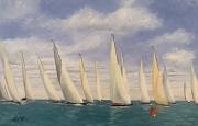 tableau marine regates voilliers bateaux : N° 380 regates de Dragon