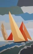tableau marine voiles marine bateaux : N° 240 Regates à Cannes