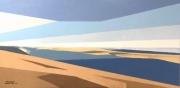 tableau marine arccahon dunes bnc de sable ciel et mer : Arcachon les Passes Sud