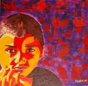tableau personnages garcon portrait grand : PETIT NINJA