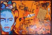 tableau personnages femme frida portrait kahlo : For So