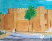 tableau architecture amor aoun la kasbah gafsa : La Kasbah Gafsa Tunisie