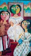 tableau abstrait amor aoun mariees tunisinnes : tunisie robe de mariée