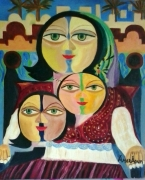 tableau abstrait amor aoun regards de tunisie : regards de tunisie