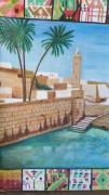 tableau paysages amor aoun oued el bay gafsa tunisie : Oued el bay Gafsa