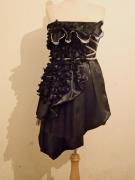 art textile mode fleurs mode fashion robe couture robe noir : robe Couture