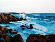 tableau marine mer vagues noirmoutier vacances : FORTE HOULE