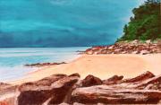tableau marine noirmoutier estacade plage mer : JOUR D'ORAGE SUR L'ESTACADE