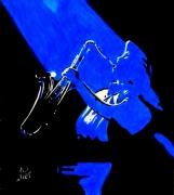 tableau personnages saxo saxophoniste musicien new orleans : UN AIR DE SAXO