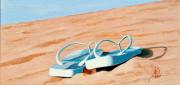 tableau nature morte plage mer noirmoutier vacances : SEULES SUR LA PLAGE