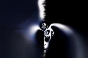 art numerique abstrait : desert skull