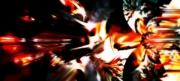 art numerique abstrait abstrait explosion feu visage : Alone