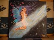 tableau personnages fees femme nue papillon : Fée céleste