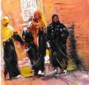 dessin : Femmes dans la médina