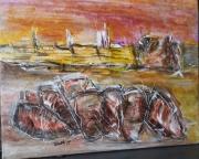 tableau paysages : Pêche à l'amphore