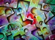 tableau abstrait : Structures 5