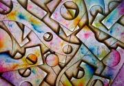 tableau abstrait : Structures 8