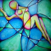 tableau abstrait : Fleur de Femme