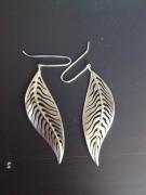 bijoux autres bijoux argent boucles d oreil feuille : feuille