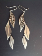 bijoux autres bijoux argent boucles d oreil feuille : feuilles