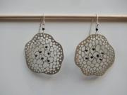 bijoux marine bijoux boucles d oreil argent contemporain : lichen