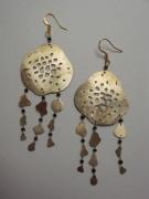 bijoux abstrait bijoux boucles d oreil laiton mer : manubrium