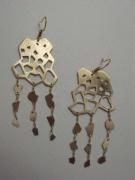 bijoux abstrait bijoux boucles d oreil laiton contemporain : dégradation