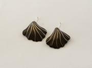 bijoux autres bijoux boucles d oreil bois contemporain : feuille palmée
