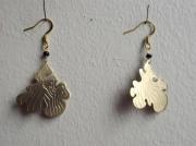 bijoux autres bijoux boucles d oreil laiton nature : lichen
