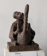 sculpture autres : joueur de kora