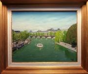 tableau paysages la seine cyrille janisset : La Seine vue du Pont Neuf