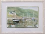 tableau marine bateau port mer : Mouillage à Pont Aven