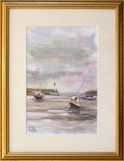 tableau marine : Marée basse à St Quay