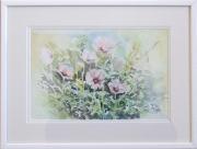 tableau fleurs aquarelle fleur blanc : Fleurs