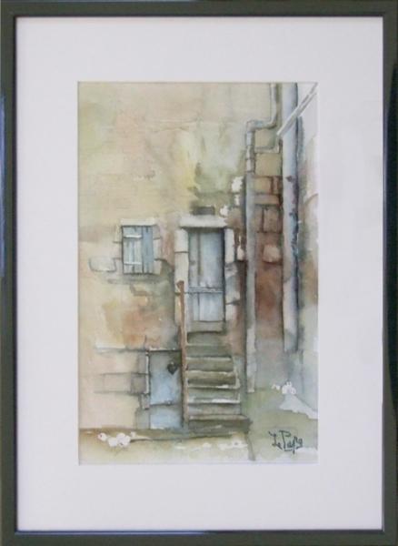 TABLEAU PEINTURE Architecture Aquarelle  - Le vieil escalier