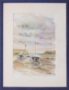 tableau marine : Marée basse à Binic