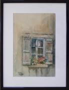 tableau architecture : Fenêtre fleurie