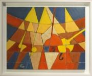 tableau personnages jazz musique groupe couleur : Le Groupe de jazz