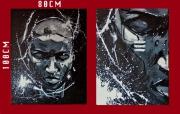 tableau personnages : Noir et blanc 3