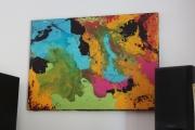 tableau abstrait univers italie mer ocean : PSYCHADELIQUE
