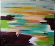 tableau paysages couleurs reves melange abstraite : REVE EN COULEURS
