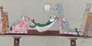 tableau personnages personnages animaux lutin : sieste sur étagère