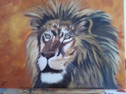 tableau animaux : LE VIEUX LION